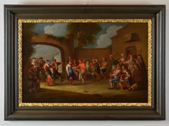Village Monaldi Oil on canvas 18th Century Italy Art Baroque