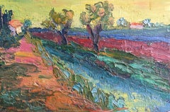 Expressionist French Landscape, Bright Colours, Oil Painting