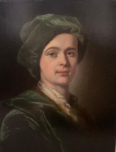 Early 18th Century English Portrait of a Gentleman in Green Velvet