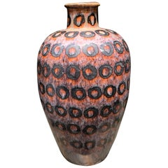 Circle Pattern Tall Vase, China, Contemporary