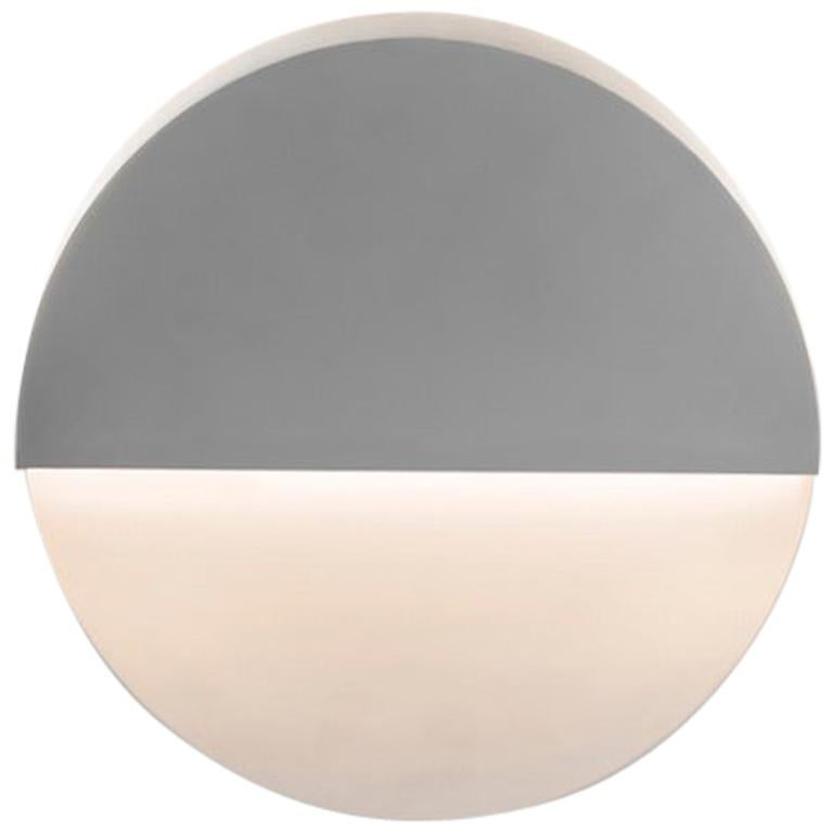 Circle Sconce in White Corian For Sale