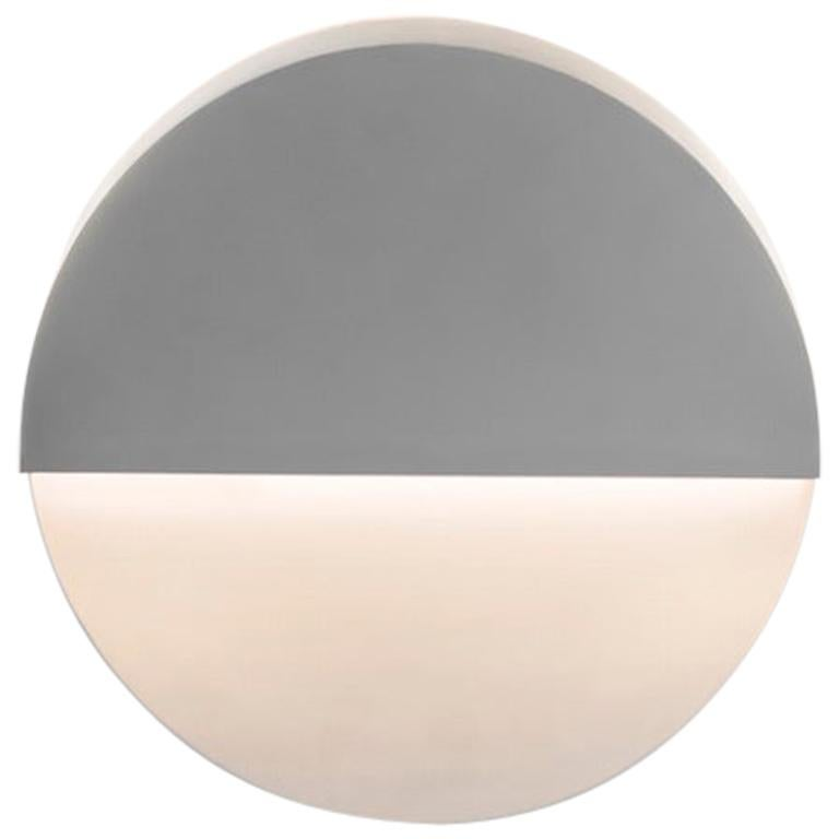 Circle Wall Light and Sculpture in White Corian For Sale