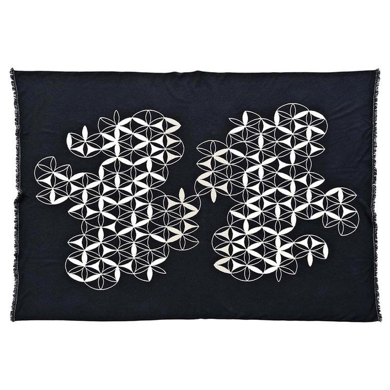 Circles by Compass Blanket by Roberta Licini For Sale