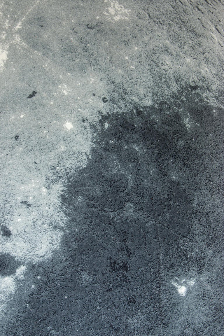 Circu Moon Printed Rug in Dark and Light Gray Tufted Cut Pile  In New Condition For Sale In Porto, PT
