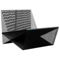 Circuit, Powder-Coated Steel Minimal Geometric Sculptural Lounge Chair