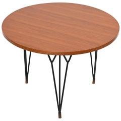 Circular Cherrywood Side Table