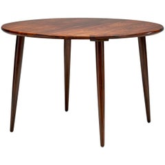 Circular Coffee Table with Slightly Tapered Legs, Denmark, 1960s