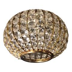 Circular Crystal Light Fixture