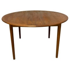 Circular Extendable Danish Teak Dining Table, circa 1960