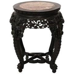 Circular Hardwood Chinese Export Table, circa 1890