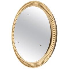 Circular Illuminated Mirror, Italy, circa 1940