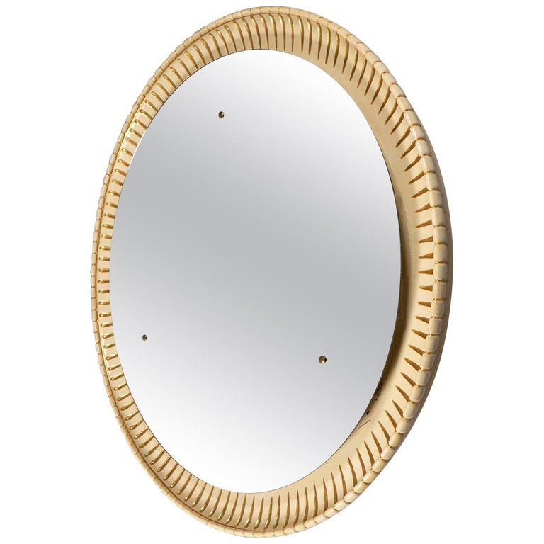Circular Illuminated Mirror, Italy, circa 1940 For Sale