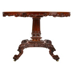 Circular Mahogany Center Table, Danish, circa 1840
