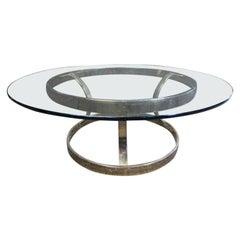 Circular Mid-Century Modern Coffee Table