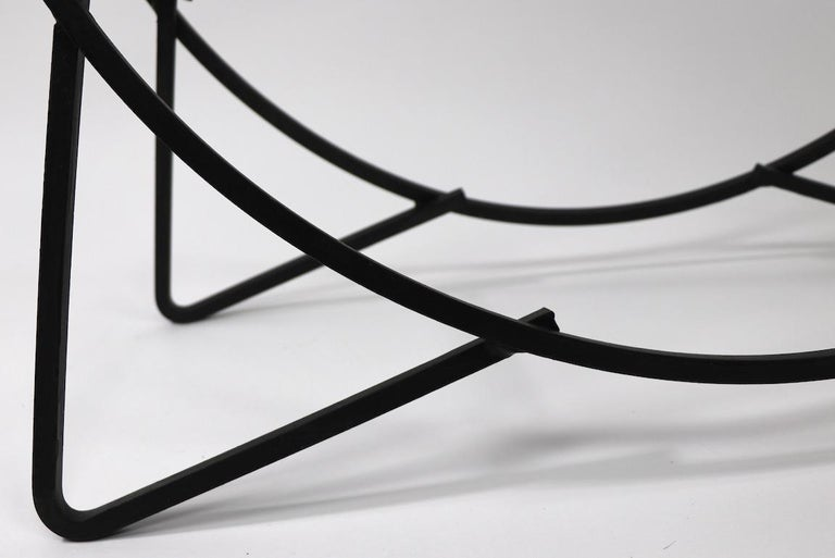 Circular Mid Century Wrought Iron Log Holder For Sale 6