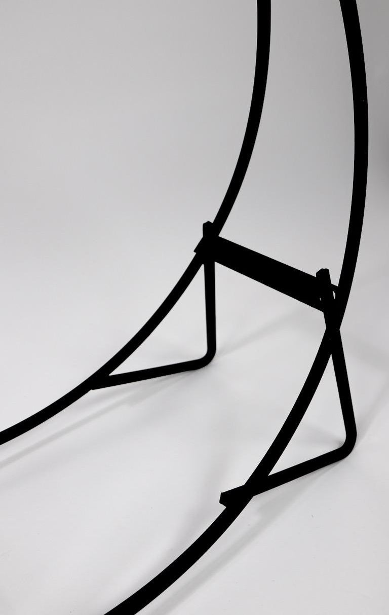 Circular Mid Century Wrought Iron Log Holder For Sale 3