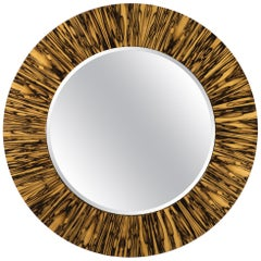 Modernist series Wide Frame Mirror in Royal White Ebony