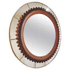 Circular Ornated Mirror by Fratelli Marelli, Italy, circa 1940-1950