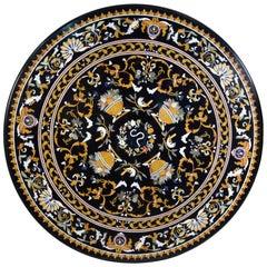 """Circular """"Pietra Dura"""" Tabletop, Marble and Hardstones"""