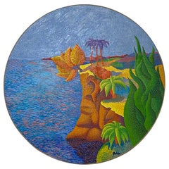 Circular Pointillism Painting by Marc R. Rubin