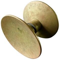 Circular Push-Pull Door Handle in Bronze, Mid-20th Century, France