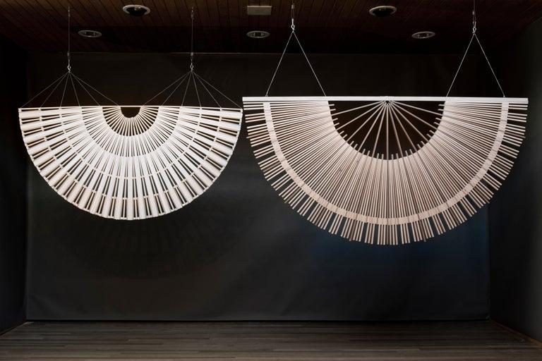 Circular Screens and Room Dividers, Spatial Hanging Screen by Rive Roshan For Sale 6