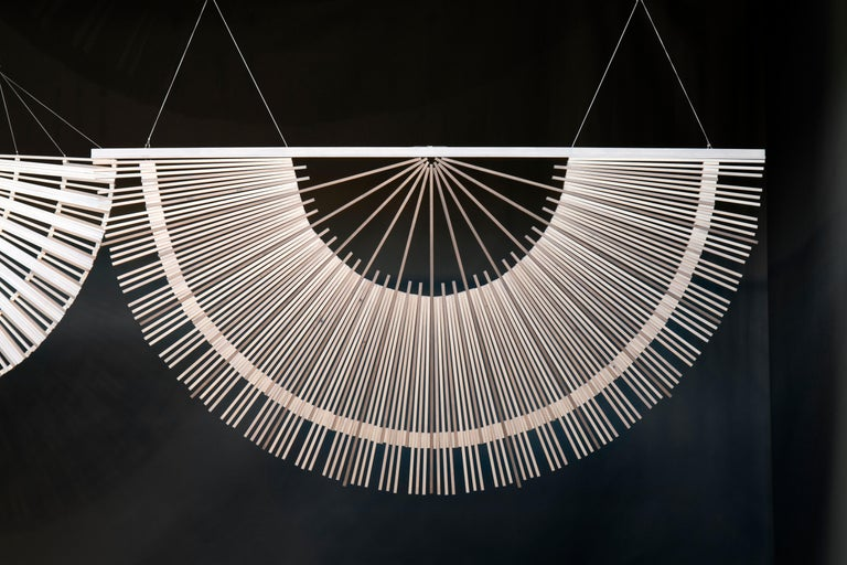 Dutch Circular Screens and Room Dividers, Spatial Hanging Screen by Rive Roshan For Sale