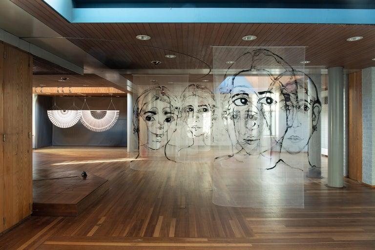 Circular Screens and Room Dividers, Spatial Hanging Screen by Rive Roshan For Sale 3
