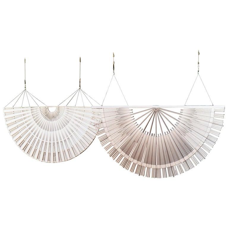 Circular Screens and Room Dividers, Spatial Hanging Screen by Rive Roshan For Sale