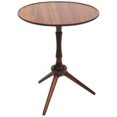 Circular Side Table in Solid Mahogany by Cabinetmaker Frits Henningsen