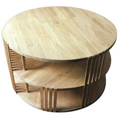 Circular Slatted Coffee Table