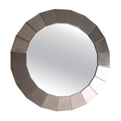 Circular Steel Wall Mirror, Spain, 1970's