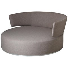 Circular Swivel Sofa Amoenus by Antonio Citterio for B&B Italia, Re-Upholstered