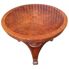 Circular Tilt Top Breakfast Table / Center Table