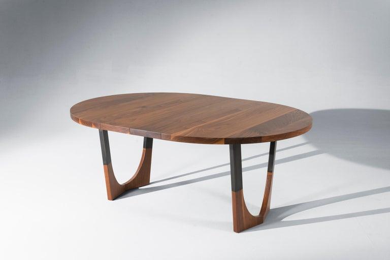 Woodwork Circular Walnut Expanding Dining Table