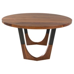 "Circular Walnut Expanding Dining Table ""Concord Dining Table"""