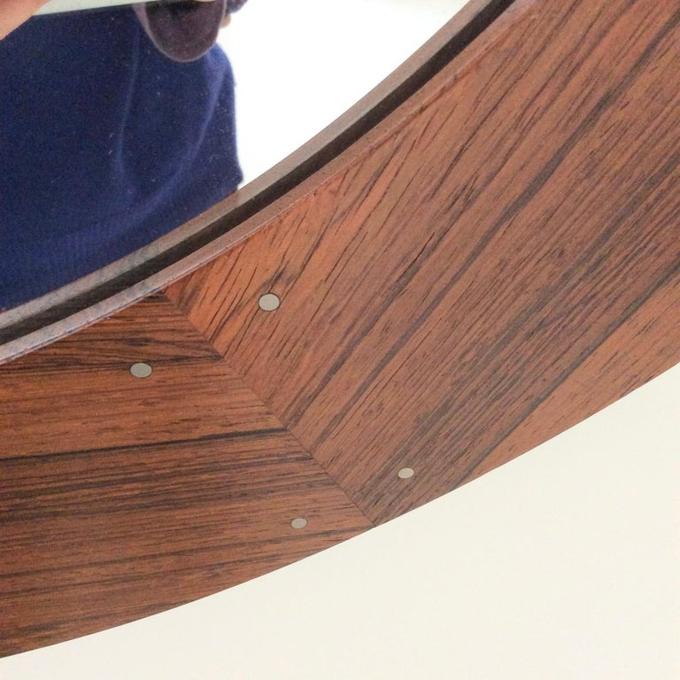 Mid-20th Century Circular Wood Mirror by Luxus, circa 1960 For Sale