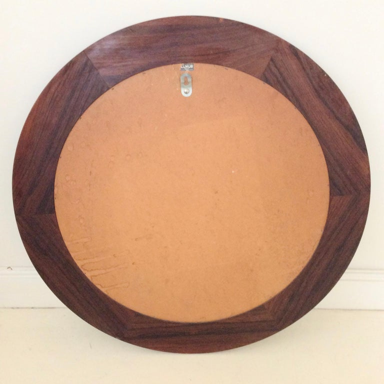 Circular Wood Mirror by Luxus, circa 1960 For Sale 1