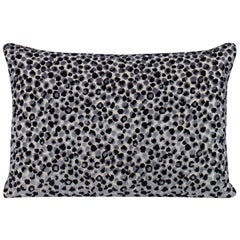 Circulate Pillow in Black and Gray by Curatedkravet