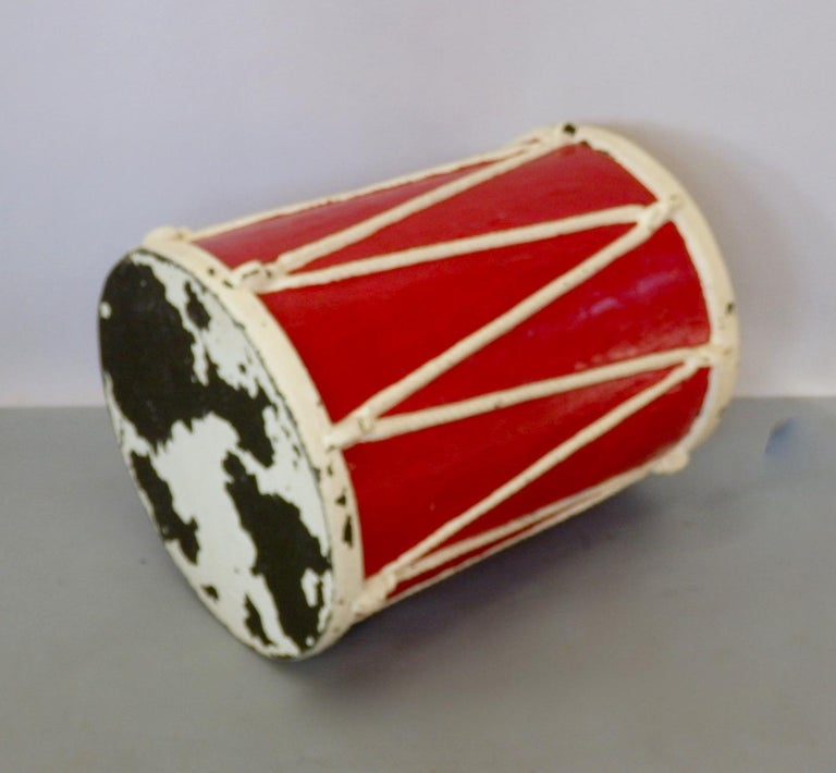 Circus or Display Fiberglass Drum Pedestal Plant Stand  For Sale 1