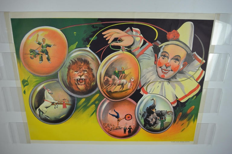 Circus Poster Clown 'Pierrot' Circus Scenes Printed by Willsons Leicester For Sale 13