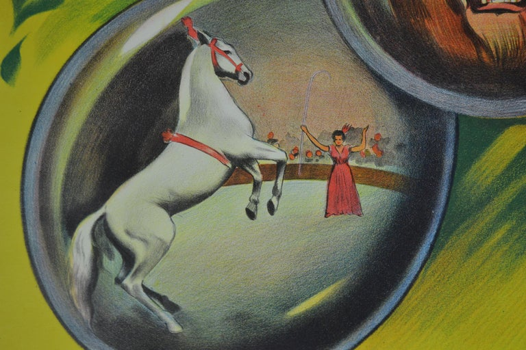 Circus Poster Clown 'Pierrot' Circus Scenes Printed by Willsons Leicester For Sale 2