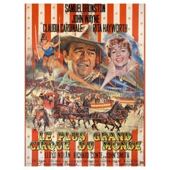 'Circus World' 1964 French Grande Film Poster