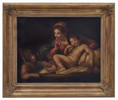 HOLY SCENE - Italian figurative framed painting, Ciro de Lucia