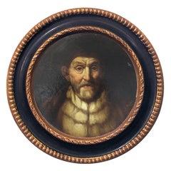 PHILOSOPHER - Dutch,Flemish, Baroque -  Figurative Oil on Canvas Painting
