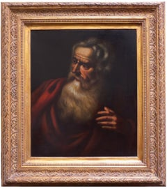 PHILOSOPHER - Italian figurative oil on canvas painting, Ciro de Rosa