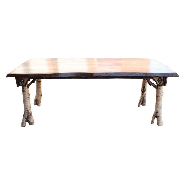 Contemporary Cisco's Adirondack Dining Room Table For Sale