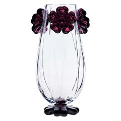 Cistus Red Flower Vase by Mario Cioni