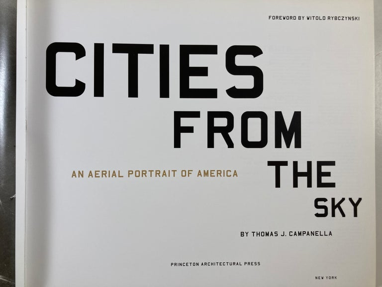 20th Century Cities from the Sky: An Aerial Portrait of America Hardcover Book