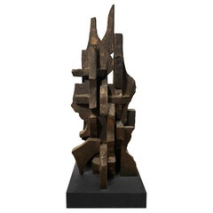 """""""Cities in Dust I"""" TOTEM Sculpture by Dan Schneiger"""